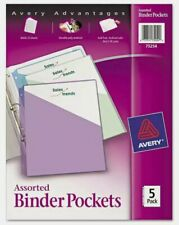 Avery Binder Pockets 3 Hole Punched 9 14 X 11