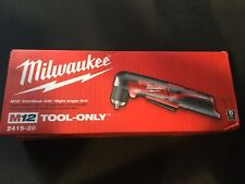 Milwaukee 2415-21 M12 Li-Ion 3/8 in. Right Angle Drill Driver Brand New