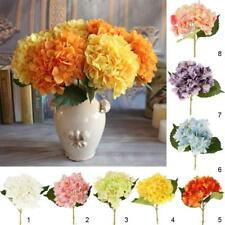 Silk Hydrangea Simulation Fake Flowers Leaf Stem Wedding Bridal Party Home Decor
