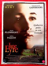 JANE EYRE 1996 WILLIAM HURT CHARLOTTE GAINSBOURG UNIQUE SERBIAN MOVIE POSTER