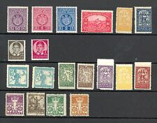 Yugoslavia/Croatia early mixed selection - mint hinged, some faults - see scan