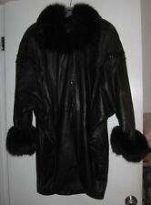vintage NOBLE FURS Leather/Fox Fur/Snake Skin Coat Bat Wing Sleeves 20'sStyle