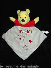 Doudou plat losange Winnie jaune gris rouge Pooh's toy box Disney Baby étoiles