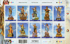 Malta 2017 MNH Festa Series Feast Assumption Our Lady 10v M/S Religion Stamps