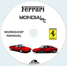 Workshop Manual FERRARI Mondial T e Mondial T Cabriolet,Manuale Officina