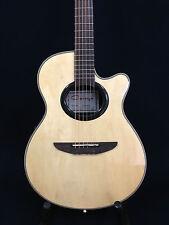 "Caraya 38"" C-836CEQ/N Round-back Acoustic guitar,EQ,Natural w/Free gig bag,Picks"