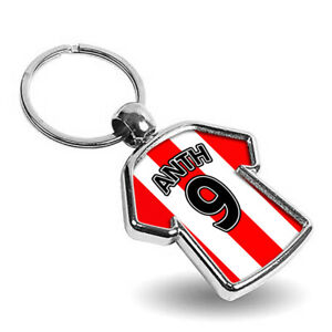 Personalised Any Name & Any Picture Metal Shirt Keyring - Double Sided