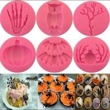 Silicone Halloween Fondant Mold Cake Topper Chocolate Baking Sugarcraft Mould