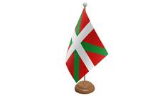 BASCO SPAGNA SPAGNOLO da tavolo Bandiera con di legno supporto
