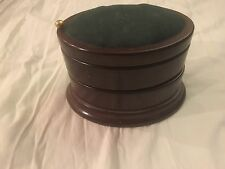 Vintage Bombay Company  Wooden Three Tier Swivel Pin Cushion Sewing Jewelry Box