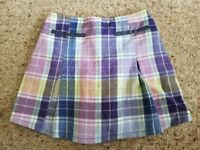 THE CHILDREN'S PLACE Purple Plaid Skort Girls Size 5