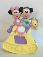 Vintage Disney Mickey Minnie Mouse Musical Rocking Horse by ARCO Rare