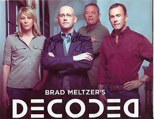 Brad Meltzer Identity Crisis Decoded Lost History Author Signed Autograph Photo