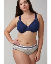 353261c73d90 LANE BRYANT CACIQUE FULL BRIEF PANTY WITH STRIPED WAISTBAND 14-16 GEOMETRIC  TILE