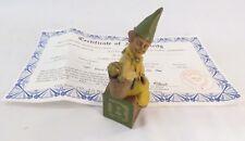 """Signed Alphabet """"B""""-1993~R~Tom Clark Gnome~Cairn Item #5216~Ed #51~Coa"""