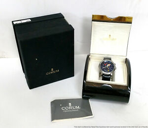 Huge Corum World Time Automatic Chronograph Chronometer Watch COSC