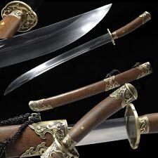 High Quality Chinese Sword Qing Dao Broadsword High Manganese Steel Sharp Blade
