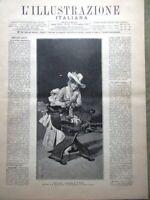 L'Illustrazione Italiana 7 Novembre 1886 Montenegro Casino di Montecarlo Venezia