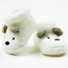 NEW Warm Newborn Socks Unisex Baby Boy Girls Infant Cute Bear Crib Warm Shoes AU