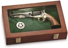 Collectors Handgun Gun Display Case Storage Solid Hardwood Hang Rack Glass