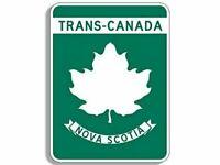 "4"" TRANS CANADA NOVA SCOTIA ROAD 16 MAPLE LEAF CAR BUMPER DECAL STICKER USA MADE"