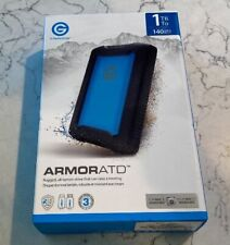 NEW G-Technology ArmorATD 1TB External USB 3.1 Gen 1 Portable Hard Drive - Black