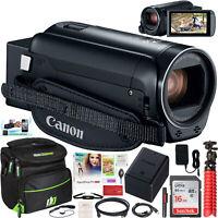 Canon VIXIA HF R800 Full HD Camcorder HFR800 Black 57x Zoom + Case Tripod Bundle