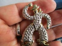 GOLD TONE & SILVER TONE COWBOY WITH HAT & BOOTS FIGURAL PIN/BROOCH