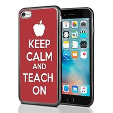 Keep Calm Teach on Red For Iphone 7 (2016) & Iphone 8 (2017) Case Cover