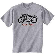 MOTO GUZZI LODOLA 235CC-Nuovo T-Shirt grigio Cotone-Tutte le taglie in magazzino