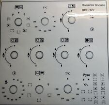 ROSIERES BOCUSE RBC 127 DECAL STICKER SET FOR WORN FRONTS.