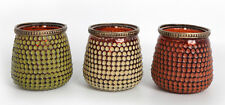 Candle Holder Stand Bronze Colour Dots Candleholders Ideal For Gift Set Of 6 New