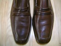 Men's Dress Shoes SANDRO MOSCOLONI Penny Loafer Sz 8.5 Brown Leather,