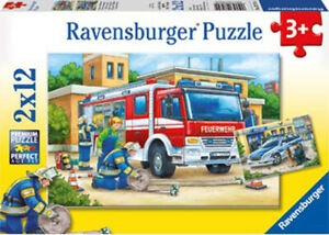 Ravensburger -Police & Fire Fighters 2x12 pieces Jigsaw Puzzles 3+