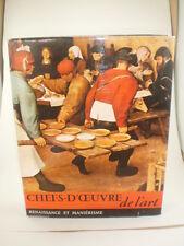 Chefs-D'Oeuvre de l'art Renaissance Et Manierisme Hardcover (French) 1963