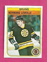 1982-83 OPC # 13 BRUINS NORMAND LEVEILLE ROOKIE NRMT-MT CARD (INV# C7500)