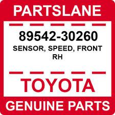 89542-30260 Toyota OEM Genuine SENSOR, SPEED, FRONT RH
