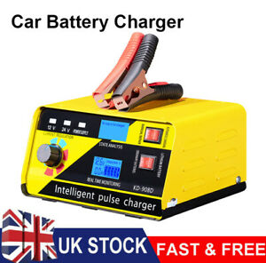 Heavy Duty 20A Smart Car Battery Charger Automatic Pulse Repair 12V/ 24V Trickle