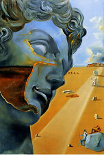 Salvador Dali Miguel Angel giclee 8.3X11.7 canvas print art poster reproduction