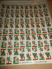 VINTAGE 1974 ~ CHRISTMAS STAMPS / SEALS X 100 FULL SHEET AMERICAN LUNG ASSOC.