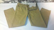 Men's Designer Hollister Button Fly Tan Khaki Chino Pants Cotton Size 29 x 30