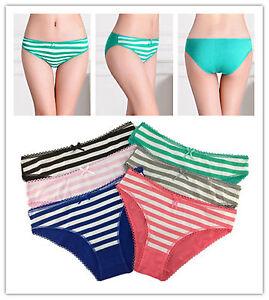 Lot Of 6 Womens Girls CUTE Bikinis Cotton Briefs Underwear Panties,US Size 3/4/5