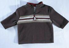 Gymboree Boys Sz 12-18m Fleece Pullover long sleeve Brown Husky Bear