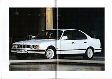 BMW 5-Series Saloon E34 1991-92 UK Market Sales Brochure 535i 525i 520i 518i