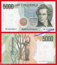 ITALIA ITALY 5000 liras lire 1985 Pick 111b SC /  UNC