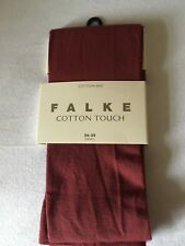 FALKE Cotton Mix Soft Touch Sheer Opaque Pantyhose Tights Garnet Red Sm RRP £22