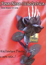 HALLOWEEN ROSA NERA SCHELETRICA PARTY FESTA DECORAZIONE COSTUME