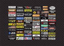 71 bumper stickers 1/10 1/8 scale decal sheet