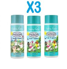 X3 Childs Farm 3 in 1 Sports, and Body Wash 250ml x3