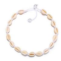Girls  Women's shell necklace Natural Seashell Choker Collar rope